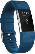 Fitbit Charge 2 Heart Rate + Fitness Wristband (Blue/Silver) - Large