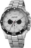August Steiner Men's AS8113SS Swiss Quartz Multifunction White Dial Silver-Tone Bracelet Watch
