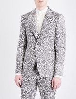 Alexander McQueen Regular-fit leopard-jacquard jacket