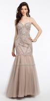 Camille La Vie Beaded Mesh Mermaid Evening Dress