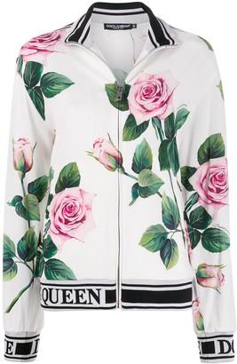 Dolce & Gabbana Rose Print Track Jacket