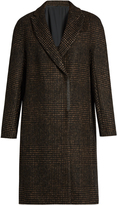 Brunello Cucinelli Prince of Wales-checked flannel coat