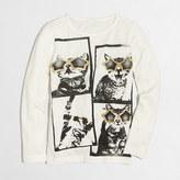 J.Crew Factory Girls' long-sleeve cat selfie keepsake T-shirt