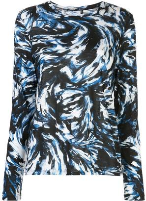 Proenza Schouler feather-printed longsleeved T-shirt