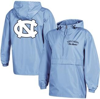Champion Women's Carolina Blue North Carolina Tar Heels Packable Half-Zip Light Rain Jacket