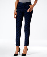Charter Club Bristol Flocked Medallion Printed Ankle Skinny Jeans, Only at Macy's