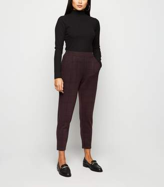 New Look Petite Check Jersey Trousers
