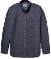 Folk Button-Down Collar Cotton-Chambray Shirt