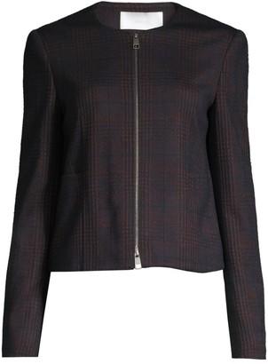 BOSS Javidar Bicolor Check Jersey Interlock Lady Jacket