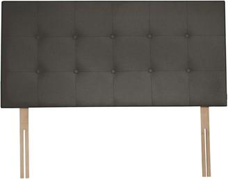 Tempur Mornington Strutted Headboard, FSC-Certified, Double, Grey