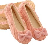 Janeyer® Janeyer Women's Ballerina Plush Soft Sole Indoor Slippers Soft Home Yoga Flat shoes /Centimeters