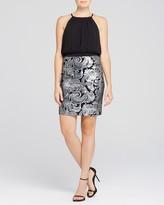 Laundry by Shelli Segal Sleeveless Blouson Bodice & Sequin Skirt Dress