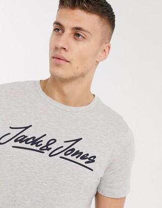 Jack and Jones script logo t-shirt