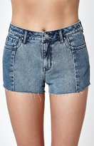 PacSun High Rise Bob Blue Denim Shorts