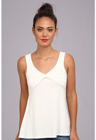 Christin Michaels Leea Draped Sleeveless Top