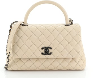 Chanel Coco Top Handle Bag Quilted Caviar Small