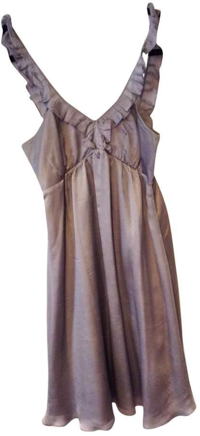 Tocca Purple Silk Dress for Women