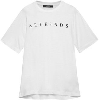 7 For All Mankind Printed Cotton And Modal-blend Jersey T-shirt