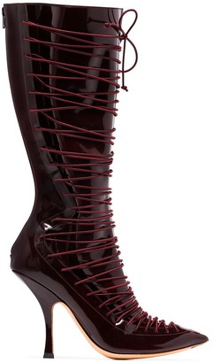 Y/Project Lace-Up 100mm Boots