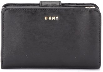 DKNY Wallet In Black Printed Leather