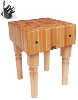 John Boos AB02 Butcher Block 24 x 18 Table and Henckels 13-piece Knife Block Set