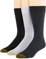 Gold Toe Mens 3-pk. Dress Crew Socks