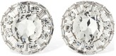 Alessandra Rich Crystal Circle Clip-on Stud Earrings