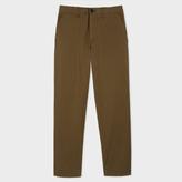 Paul Smith Men's Tapered-Fit Khaki Garment-Dye Pima-Cotton Stretch Chinos