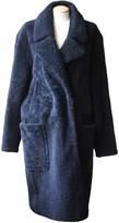 Yves Salomon Navy Shearling Coat for Women