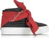 Joshua Sanders Black Nylon High Top Bandana Sneakers