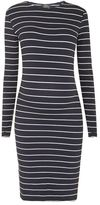 Topshop Maternity long sleeve stripe bodycon dress