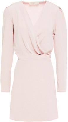Vanessa Bruno Nehila Wrap-effect Draped Cloque Mini Dress