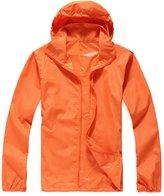 Alafen Unisex Lightweight Waterproof Sun Protection Jacket Skin Windbreaker XXX-Large
