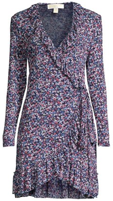 MICHAEL Michael Kors Ditsy Floral Wrap Dress