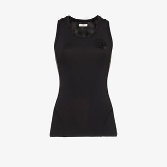 Fendi Womens Black Logo Tank Top