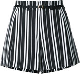 GUILD PRIME striped shorts - women - Polyester - 34