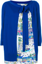 Salvatore Ferragamo printed silk insert cardigan - women - Silk/Virgin Wool - XS