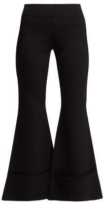 Stella McCartney Flared Cropped Trousers - Womens - Black