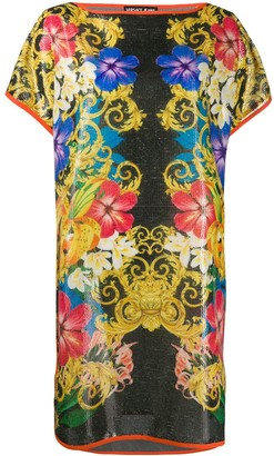 Versace Jeans Couture Barocco floral print T-shirt dress