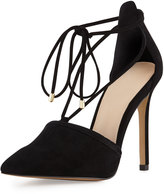 Vince Camuto Nitta Suede Pointed-Toe Pump, Black