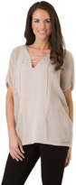Haggar Women's Mitered Solid Poncho Sweater