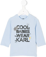 Karl Lagerfeld Cool Babies Wear top - kids - Cotton/Spandex/Elastane - 3 mth