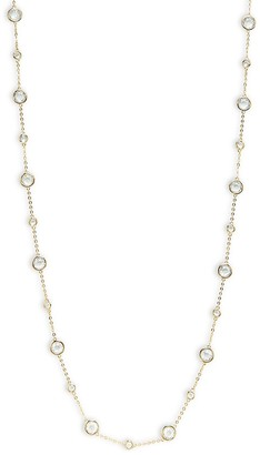 Adriana Orsini Goldtone Cubic Zirconia Bezel Chain Necklace
