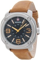 Wenger Escort Analog Swiss Quartz Watch - Suede Strap