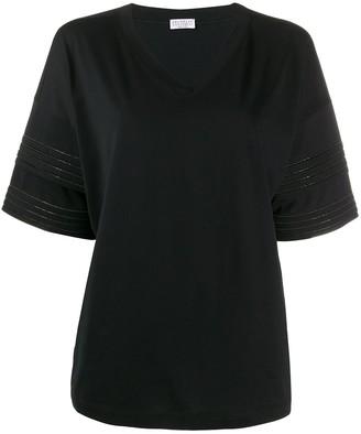 Brunello Cucinelli rhinestone-embellished cotton T-shirt