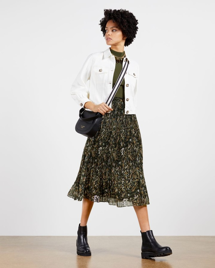 Thumbnail for your product : Ted Baker Urban Printed Pleated Mockable Dress