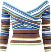 MSGM Stripe Knit Top