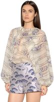 Giambattista Valli Printed Silk Georgette Shirt