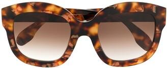 Emmanuelle Khanh Tortoiseshell Frame Sunglasses