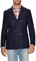 Michael Bastian Windowpane Double Breasted Sportcoat